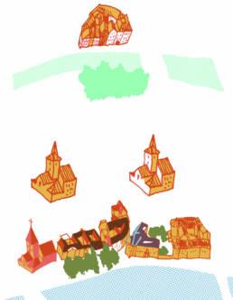 Essais couleurs pour la carte de Strasbourg