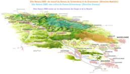 Carte illustrée des zones Natura 2000 de la Vallée de la Bruche