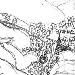 premier coup de crayon pour la carte touristique de la vallée de la Bruche
