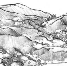 Extrait du crayonné de la carte Natura 2000 du val de villé